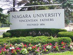 Niagara University Sign